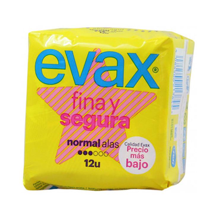 EVAX FINA Y SEGURA NORMAL CON ALAS 12 UDS.