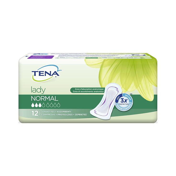 COMPRESA TENA LADY 12 UND. NORMAL