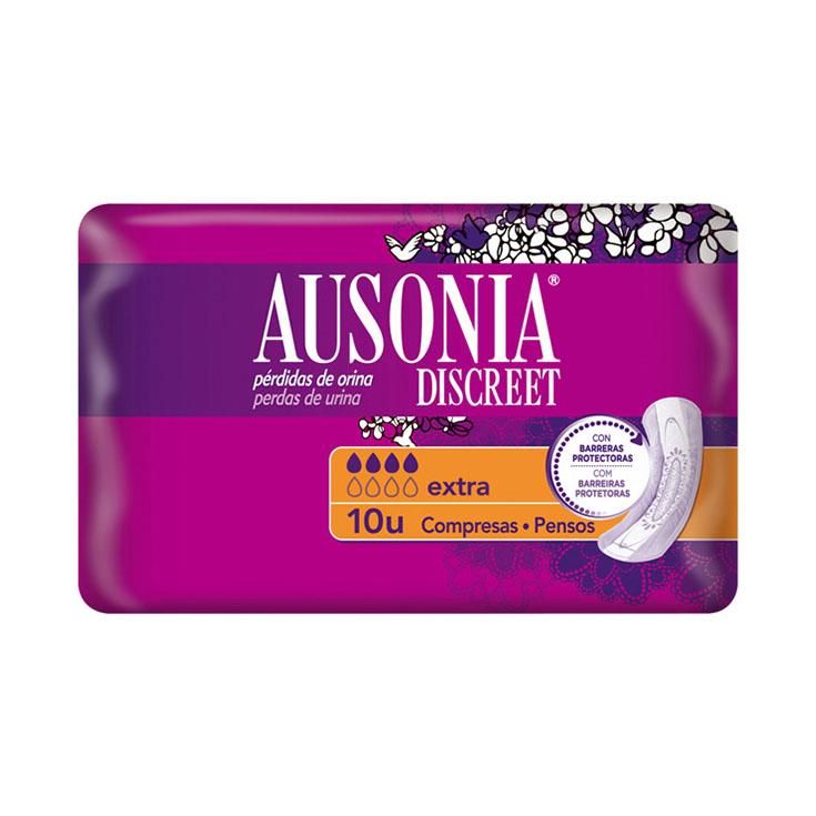 COMPRESA AUSONIA DISCREET EXTRA 10 UDS
