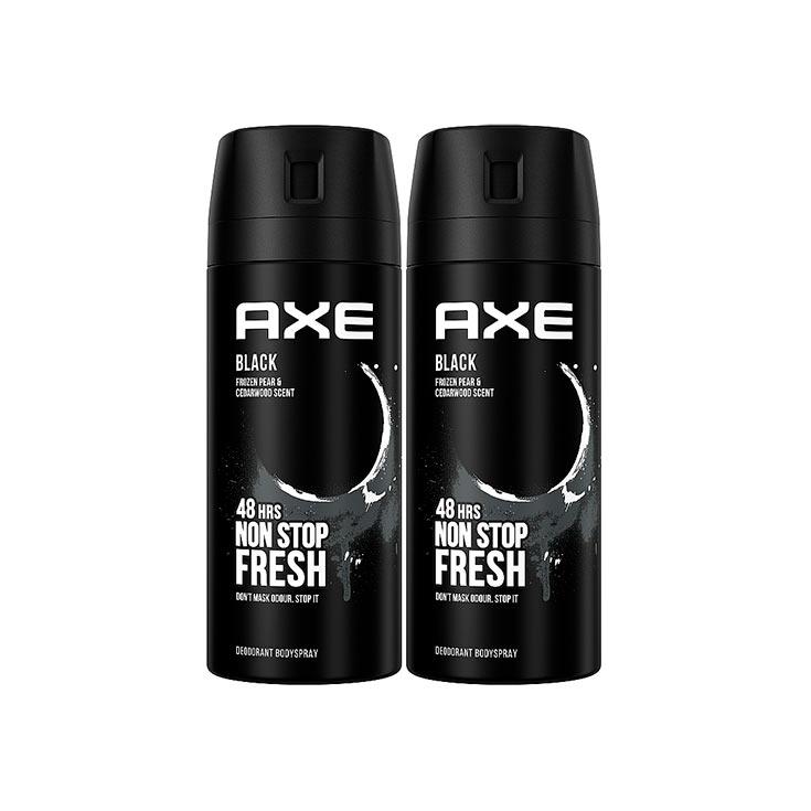 DESOD. AXE 150 ML.SPRAY BLACK 2X1
