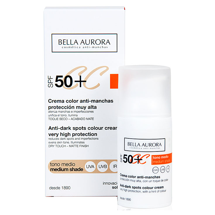 BELLA AURORA CREMA PROTECTORA CON COLOR SPF 50.