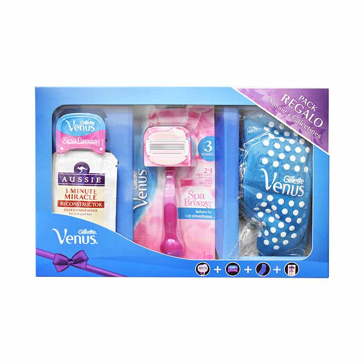 ESTUCHE GILLETTE VENUS BREEZE+CALCETINES
