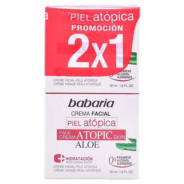BABARIA CREMA FACIAL PIEL ATOPICA 50 ML.2X1