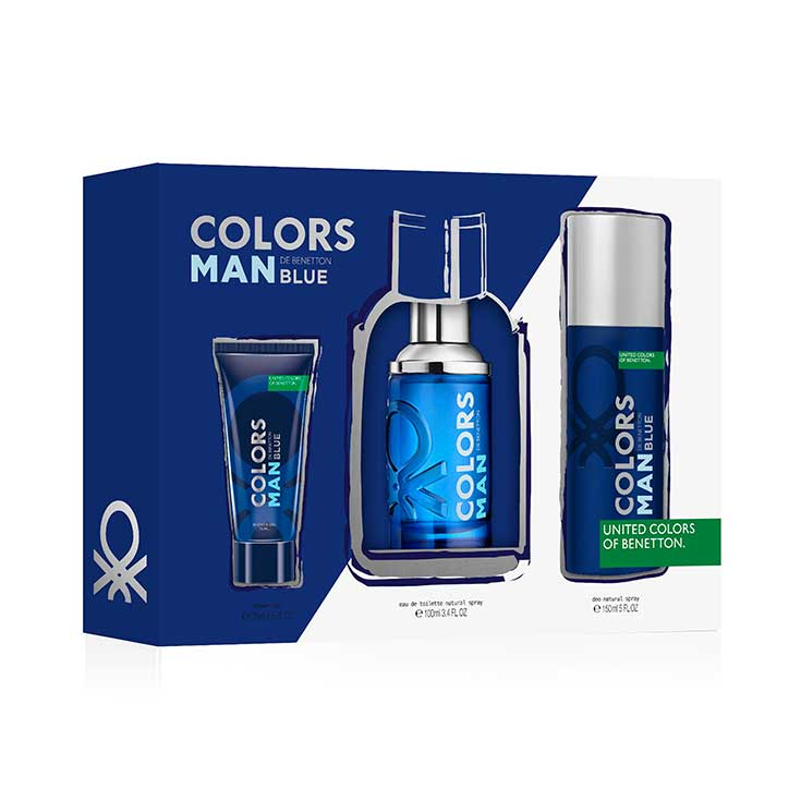 ESTUCHE BENETTON COLORS MAN BLUE(3 PIEZAS)