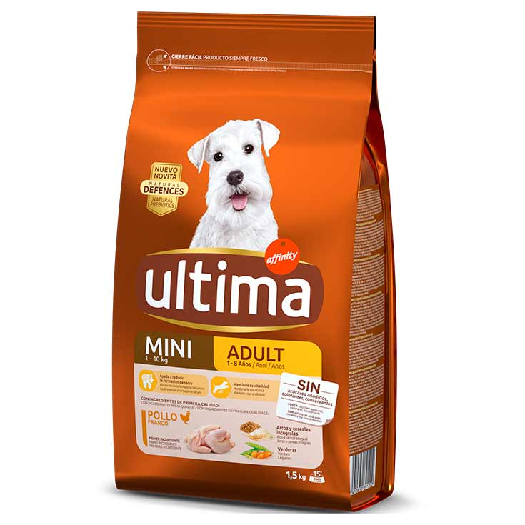 ULTIMA DOG MINI ADULT POLLO 1,5 KG