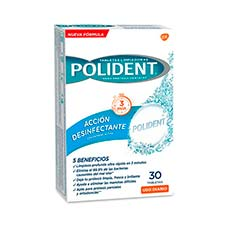Polident Tabletas Limpiadoras Dentaduras postizas 30 Tabletas
