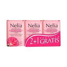 Nelia Jabón de Tocador Hidratante Pack 2 + 1 Gratis 120 g