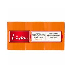 Lida Jabón de Glicerina en Pastilla Pack 3 X 125 g