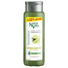 Natur Vital Sensitive Champu Purificante Lima Cabello Graso 300ml