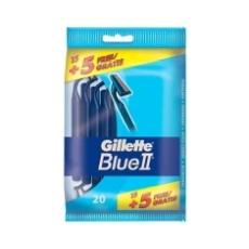 GILLETTE MÁQUINAS DE AFEITAR DESECHABLES BLUE II 15 + 5 UDS.