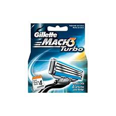 Gillette Mach-3 Turbo Recambios 4 uds