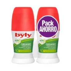 Byly Desodorante Antitranspirante Organic Extra Fresh Roll-On 50 Ml Duplo