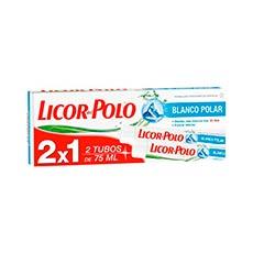 Licor Del Polo Blanco Polar Crema Dental 2x 75 ml