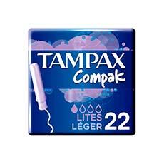 Tampax Compak Lites Tampones 22 uds