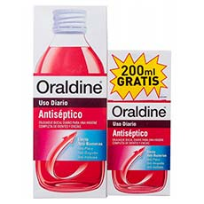 Oraldine Enjuague Bucal Antiséptico 400 ml + 200 ml