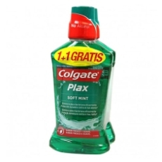 COLGATE ENJUAGUE BUCAL PLAX 1+1