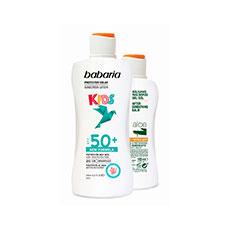BABARIA SOLAR INFANTIL Piel Sensible SPF 50 + AFTERSUN ALOE