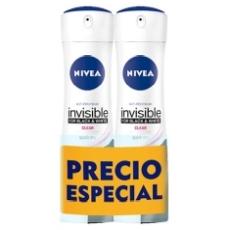 Nivea Desodorante Black & White Invisible Original Spray Duplo 200ml X 2