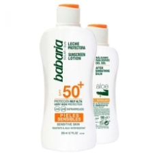 Babaria Leche Solar Piel Sensible Spf50 200ml + Regalo Aftersun