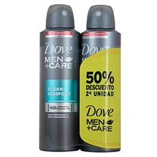 Dove Desodorante Clean Comfort Men Spray Duplo 200 ml X 2