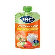 Hero Baby Bolsita ¡Mi Merienda! Plátano, Fresa y Yogurt 100 g