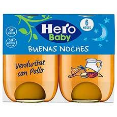Hero Baby Buenas Noches Verduritas con Pollo 2 X 190 g