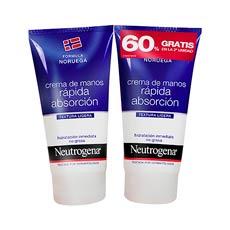 Neutrogena Manos Crema Rápida Absorción 2 x 75 ml