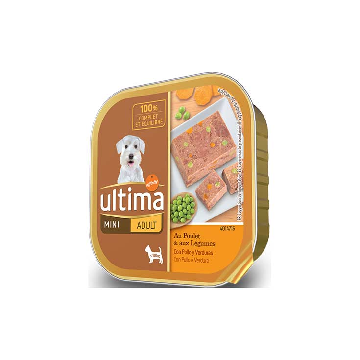 Ultima-Affinity Dog Adult Mini con Pollo Latita 150 g