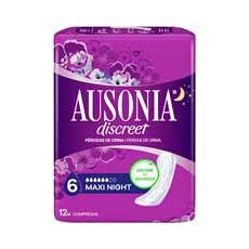 Ausonia Discreet Maxi Día y Noche Compresas 12 uds