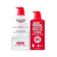 EUCERIN PACK GEL PH5 1LT+ GEL PH5 400 ML.