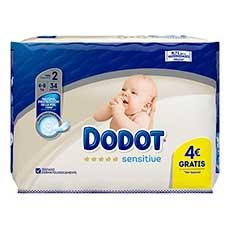 Dodot Sensitive Talla 2 Recién Nacido 34 uds