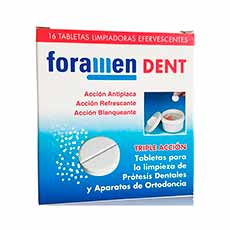 Foramen Dent Tabletas Limpiadoras Dentaduras postizas 32 Tabletas