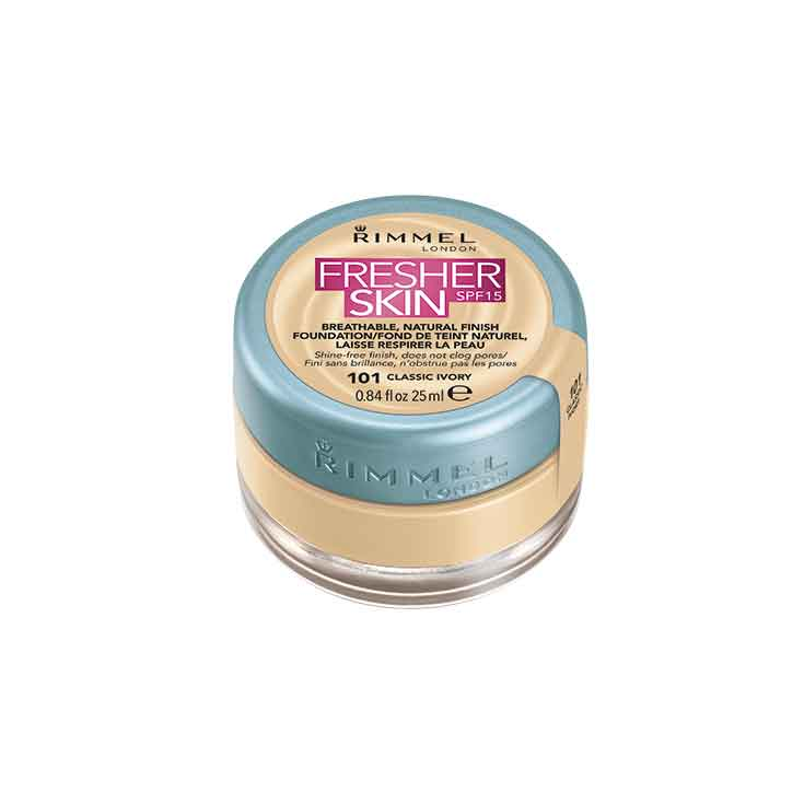 RIMMEL FRESHER SKIN FOUNDATION SPF 15