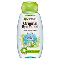 Garnier Original Remedies Agua de Coco y Aloe Vera Champú 300 ml
