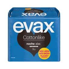 Evax Cottonlike Noche Con Alas Compresa 9 uds