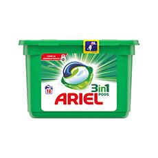 Ariel Detergente en Cápsulas Blanco 3 en 1. 18 Lavados