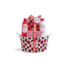 IDC INSTITUTE SET DE BAÑO VINTAGE FRUITS SWEET STRAWBERRY 5 PIEZAS