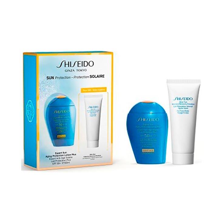 Shiseido Sun Expert Estuche Aging Protection Lotion+ Spf50 100ml + Regalo After-Sun Intensive Recovery 75ml