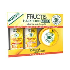 Fructis Hair Food Menú Banana Cofre 3 Piezas