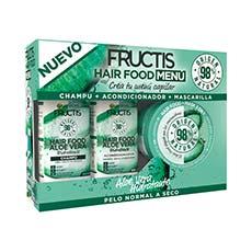 Fructis Hair Food Menú Aloe Vera Cofre 3 Piezas