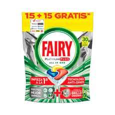 Fairy Platinum Plus Limón 30 uds