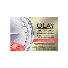Olay Daily Facials 5-en-1 Toallitas Limpiadoras Piel Normal 30 Unidades