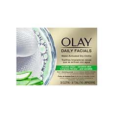 Olay Daily Facials 5-en-1 Toallitas Limpiadoras Piel Sensible 30 Unidades