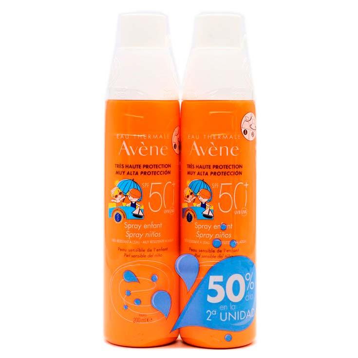 Avène Spray Protector Solar Niños SPF50+ 2x200 Ml