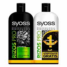 Syoss Rizos Pro Set Champú 440 ml + Acondicionador 440 ml