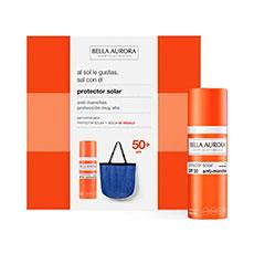 Bella Aurora Protector Solar Anti-Manchas Piel Normal-Seca SPF50 Estuche 2 Piezas