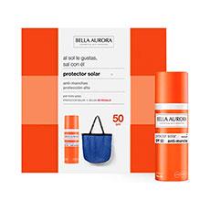 Bella Aurora Protector Solar Anti-Manchas Piel Mixta-Grasa SPF50 Estuche 2 Piezas