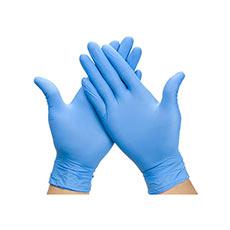 Guantes de Nitrilo Azules Sin Polvo Talla L 100 uds