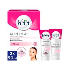 Veet Mínima Kit De Depilación Facial 2 x 50 ml