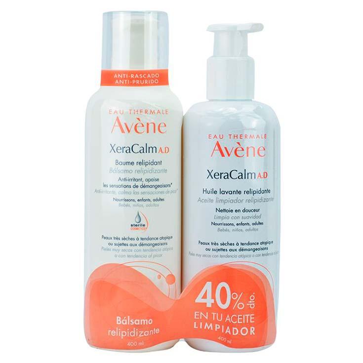 Avène Xeracalm A.D Pack Bálsamo Relipidizante 400 ml + Aceite Limpiador Relipidizante 400 ml